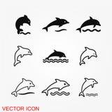 Dolfijn Vectorpictogram vector illustratie