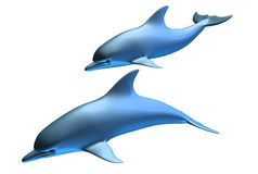 Dolfijnen royalty-vrije illustratie