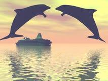dolfijnen Royalty-vrije Stock Afbeeldingen