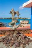 Dolfijnstandbeeld Stock Afbeeldingen