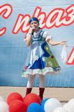 dolgih Olga śpiewa piosenkę Zdjęcia Royalty Free