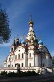 DOLGOPRUDNY, RÚSSIA - 27 de setembro de 2015: Igreja do ícone de Kazan da mãe do deus Fotografia de Stock