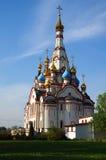 DOLGOPRUDNY, RÚSSIA - 27 de setembro de 2015: Igreja do ícone de Kazan da mãe do deus Foto de Stock