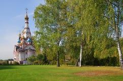DOLGOPRUDNY, RÚSSIA - 27 de setembro de 2015: Igreja do ícone de Kazan da mãe do deus Imagens de Stock Royalty Free