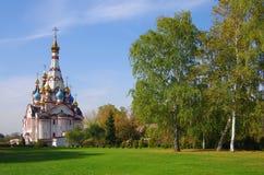 DOLGOPRUDNY, RÚSSIA - 27 de setembro de 2015: Igreja do ícone de Kazan da mãe do deus Fotos de Stock Royalty Free