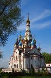 DOLGOPRUDNY, RÚSSIA - 27 de setembro de 2015: Igreja do ícone de Kazan da mãe do deus Imagem de Stock Royalty Free