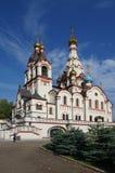 DOLGOPRUDNY, RÚSSIA - 27 de setembro de 2015: Igreja do ícone de Kazan da mãe do deus Fotos de Stock
