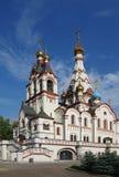 DOLGOPRUDNY, RUSIA - 27 de septiembre de 2015: Iglesia del icono de Kazán de la madre de dios Imagenes de archivo