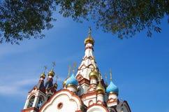 DOLGOPRUDNY, RUSSIE - 27 septembre 2015 : Église de l'icône de Kazan de la mère de Dieu Image libre de droits