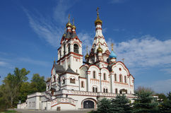 DOLGOPRUDNY, RUSSIE - 27 septembre 2015 : Église de l'icône de Kazan de la mère de Dieu Photographie stock