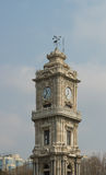Dolhabache tower. Dolmabache tower clock istanbul turkey Stock Photos