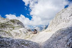 Dolic mountain hut. In Julian alps Stock Images