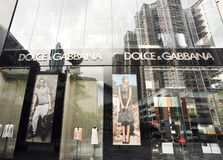 Dolice&gabbana shopwindow Royalty Free Stock Photo