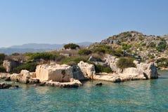 Dolikisthe, wygłupy zlew ruiny w Turcja Fotografia Royalty Free