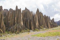 Dolina śmierć Valle De Las Animas w losie angeles Paz, Boliwia Rockowe formacje obraz royalty free