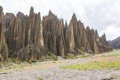 Dolina śmierć Valle De Las Animas w losie angeles Paz, Boliwia Rockowe formacje obrazy stock