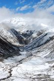 Dolina śnieżna góra Fotografia Royalty Free