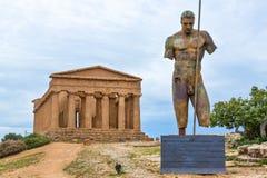 Dolina Świątynie Agrigento Obraz Stock