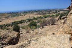 Dolina świątynie, Agrigento, Sicily Obrazy Royalty Free