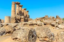 Dolina świątynie, Agrigento, Sicily, Włochy Zdjęcia Stock