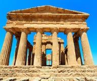 Dolina świątynie, Agrigento, Sicily, Włochy Fotografia Stock