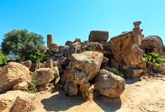Dolina świątynie, Agrigento, Sicily, Włochy Zdjęcie Royalty Free