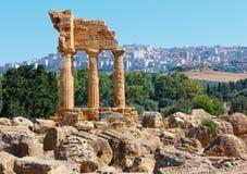 Dolina świątynie, Agrigento, Sicily, Włochy Obrazy Royalty Free