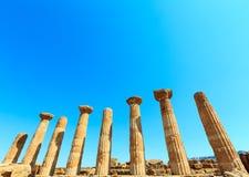 Dolina świątynie, Agrigento, Sicily, Włochy Fotografia Royalty Free