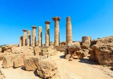 Dolina świątynie, Agrigento, Sicily, Włochy Zdjęcia Royalty Free