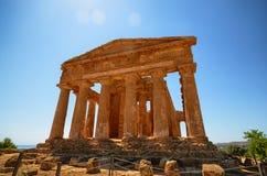 Dolina świątynie Agrigento, Włochy, Sicily zdjęcie stock