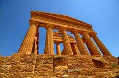Dolina świątynie Agrigento, Włochy, Sicily zdjęcia stock