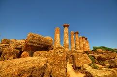 Dolina świątynie Agrigento, Włochy, Sicily obraz stock