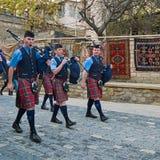 Dolina Atholl Pipeband w Baku Zdjęcia Royalty Free