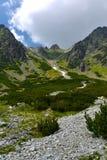 Dolina de Mlynicka, Vysoke Tatry (vale de Mlinicka, Tatras alto) - Eslováquia Imagens de Stock Royalty Free