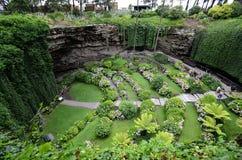 Dolina de Umpherston, el jardín hundido Fotografía de archivo