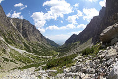 Dolina do studena de Mala - vale em Tatras alto, Eslováquia Fotos de Stock Royalty Free