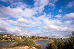 Dolina Don rzeczny pobliski grodzki Rostov Obraz Royalty Free