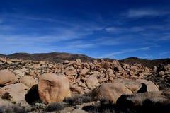 Dolina głazy w Joshua drzewa parka narodowego pustyni Fotografia Royalty Free