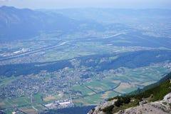 Dolina i cugiel w Lihtenstein zdjęcie royalty free