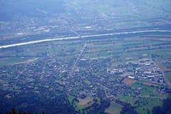 Dolina i cugiel w Lihtenstein obraz stock