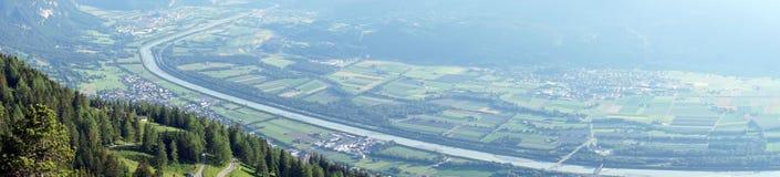 Dolina i cugiel w Lihtenstein obraz royalty free