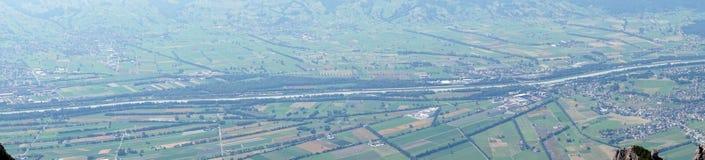 Dolina i cugiel w Lihtenstein obrazy royalty free