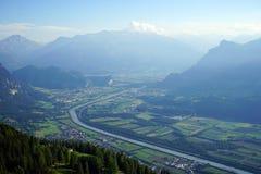Dolina i cugiel w Lihtenstein fotografia stock