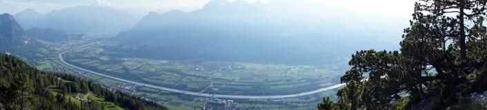 Dolina i cugiel w Lihtenstein fotografia royalty free