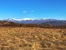 Dolina i góry Fotografia Stock