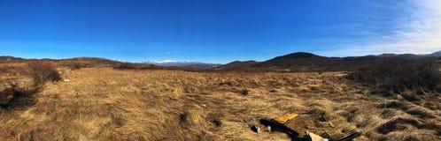 Dolina i góry Zdjęcia Royalty Free