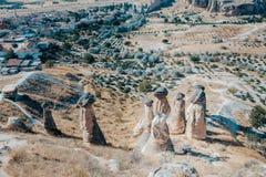 Dolina, Kołysa i kamienie Cappadocia, Turcja Fotografia Royalty Free