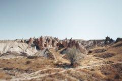 Dolina, Kołysa i kamienie Cappadocia, Turcja Zdjęcia Royalty Free