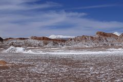 Dolina księżyc - Valle de los angeles Luna, Atacama pustynia, Chile fotografia royalty free
