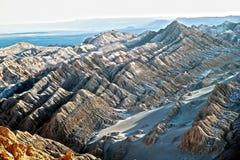 Dolina księżyc w Atacama pustyni, Chile Obraz Stock